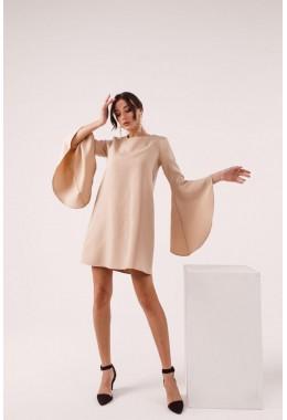 Платье с рукавами с широкими воланами