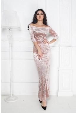 Вечернее бархатное платье  в пол