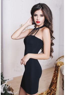 Коктейльное платье с чокером
