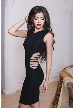 Коктейльное платье с вырезом