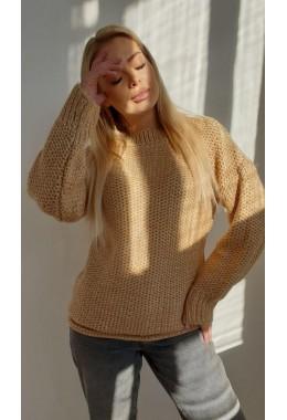 Модный бежевый женский свитер