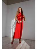 Платье красное длинное без рукавов
