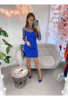 Вечернее платье синее с манжетом