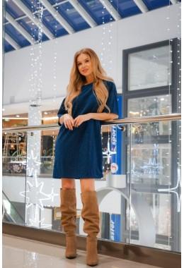 Платье-футболка синее