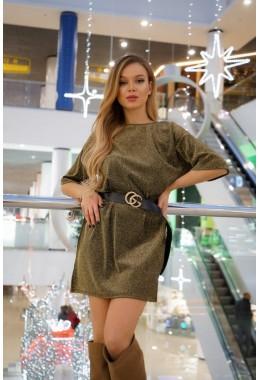 Платье-футболка золотое