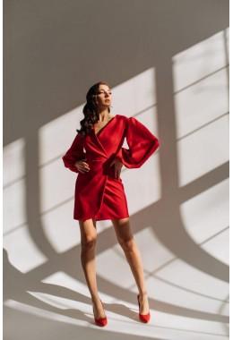 Шикарное платье с рукавами-воланами