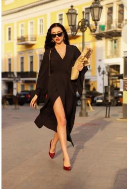 Платье Кимоно черное