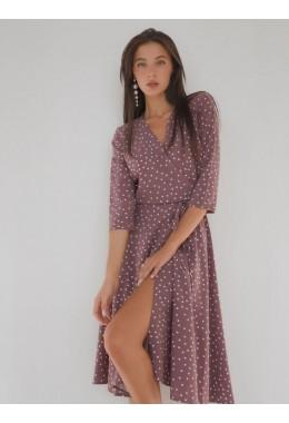 Легкое платье на запах цвета пыльной розы