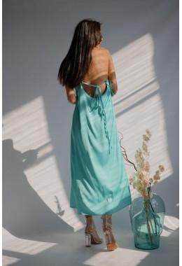 Нежное мятное платье на бретельках