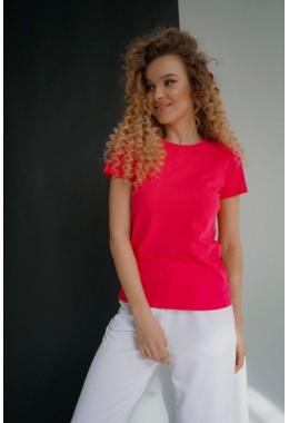 Базовая малиновая футболка