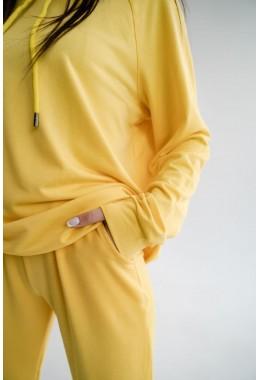 Худи желтое с капюшоном