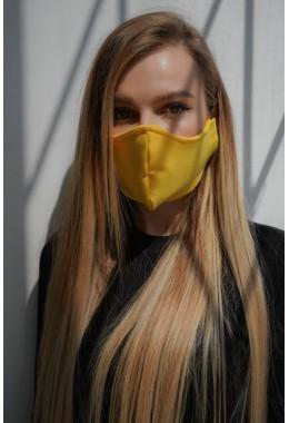 Маска защитная тканевая многоразовая желтая