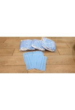 Защитная маска из медицинской ткани голубые