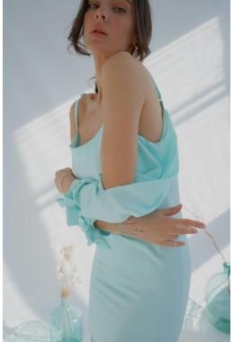 Нежное мятное платье