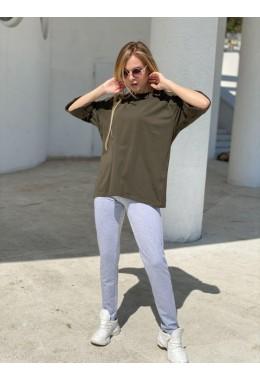 Стильная хаки летняя футболка