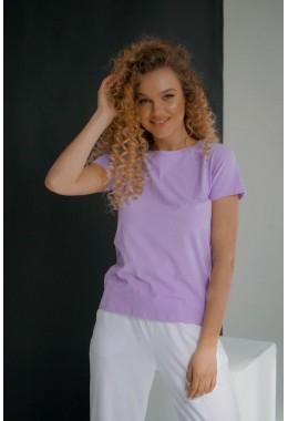 Базовая лавандовая футболка