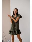 Платье из коттона  цвета хаки
