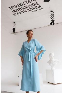 Универсальное платье-кардиган светло-голубое