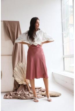 Утонченная юбка цвета розы