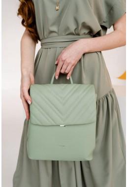 Женский зеленый модный рюкзак