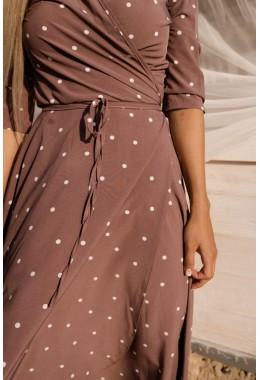 Легкое платье на запах цвета пыльная роза