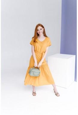 Нежное яркое платье желтого цвета