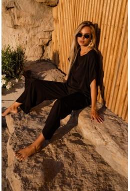 Легкий летний костюм черного цвета