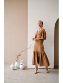 Оригинальное платье макси длины