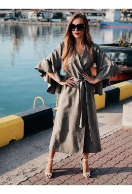 Универсальное платье-кардиган цвета хаки