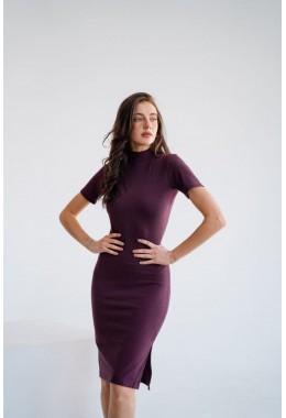 Базовое платье в рубчик