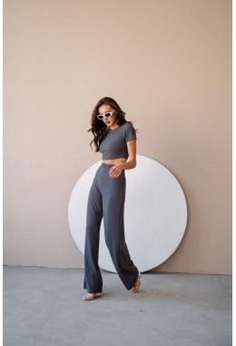 Базовый графитовый костюм с брюками