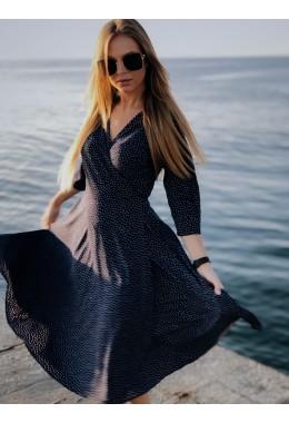 Романтическое платье в горошек