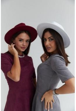 Фетровая шляпка бордо