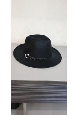 Фетровая шляпка черная