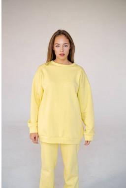 Худи  без капюшона нежно-желтого цвета