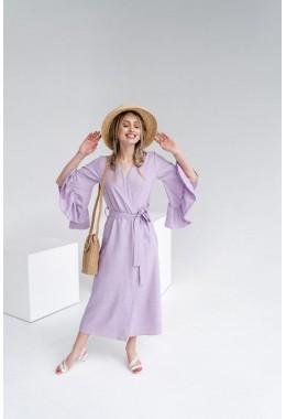 Универсальное лавандовое платье-кардиган цвета