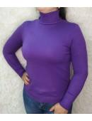 Стильный гольф под горло фиолетовый