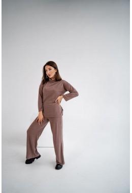 Теплый ангоровый костюмчик цвета капучино