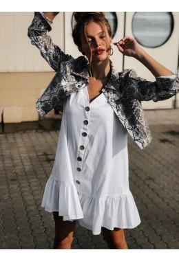 Белое платье из котона