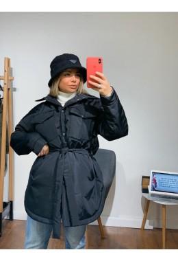 Куртка в стиле рубашки черного цвета