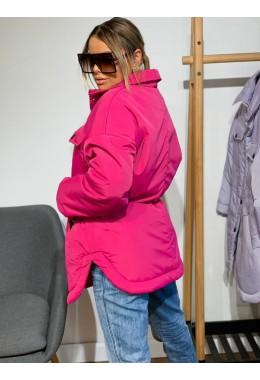 Куртка в стиле рубашки розового цвета