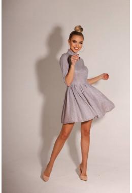 Нарядное платье колокольчик розового цвета