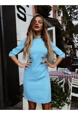 """Платье в стиле """"гусар"""" голубое"""