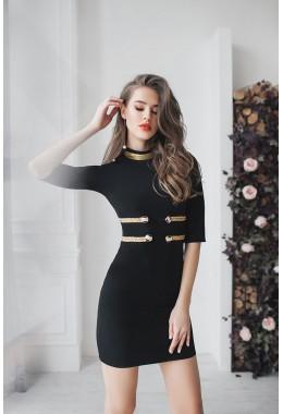 """Платье в стиле """"гусар"""" черное"""