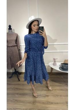 Стильное весеннее платье джинсового цвета
