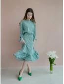 Стильное весеннее платье мятного цвета
