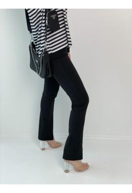 Модные лосины с разрезами черные