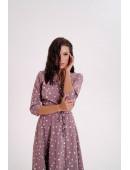 Легкое платье на запах цвета мокко крупный