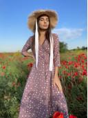 Легкое платье на запах цвета пыльная роза новое