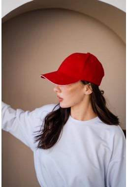 Кепка unisex красная